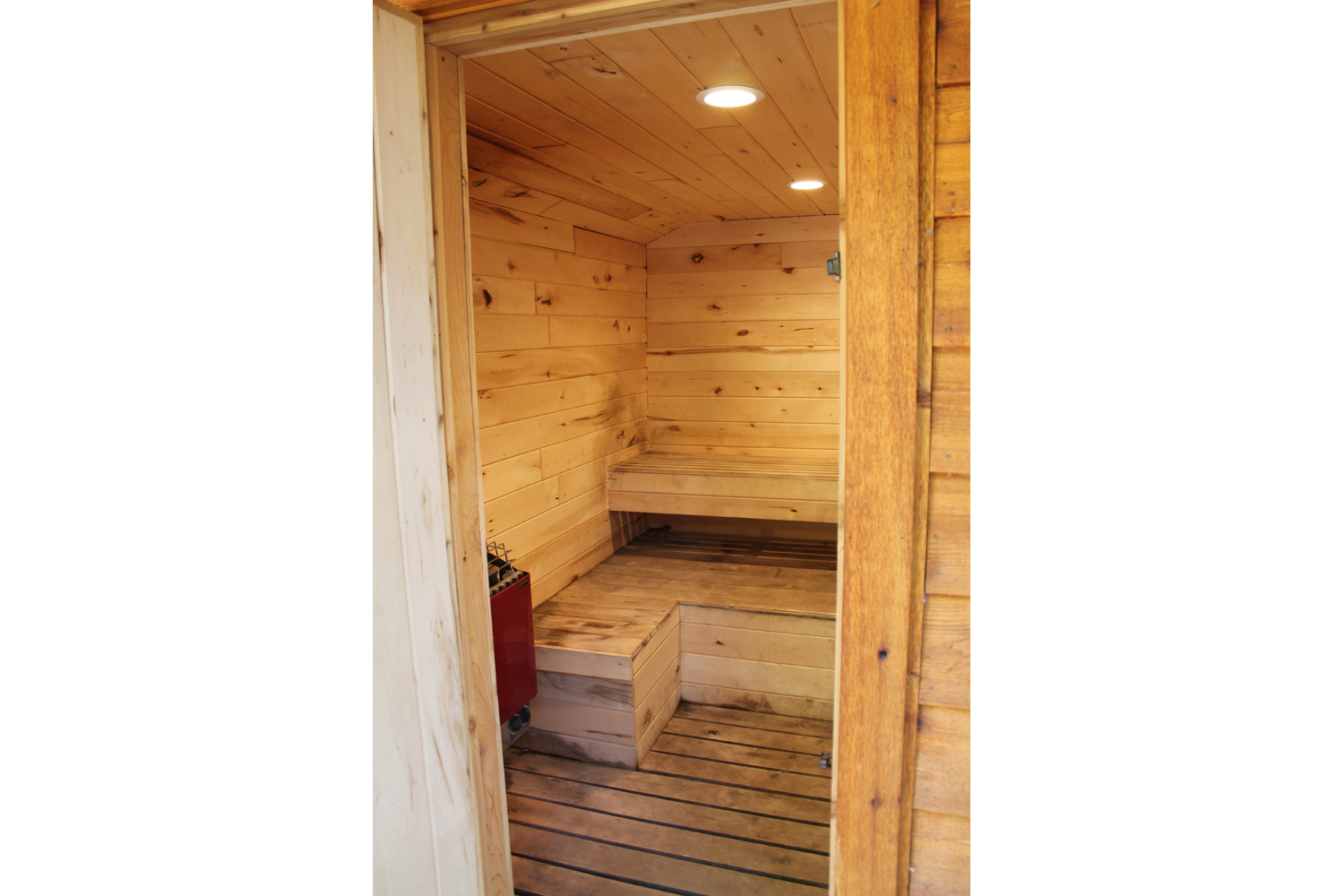 Relax in the Sauna at Broadwater Lodge
