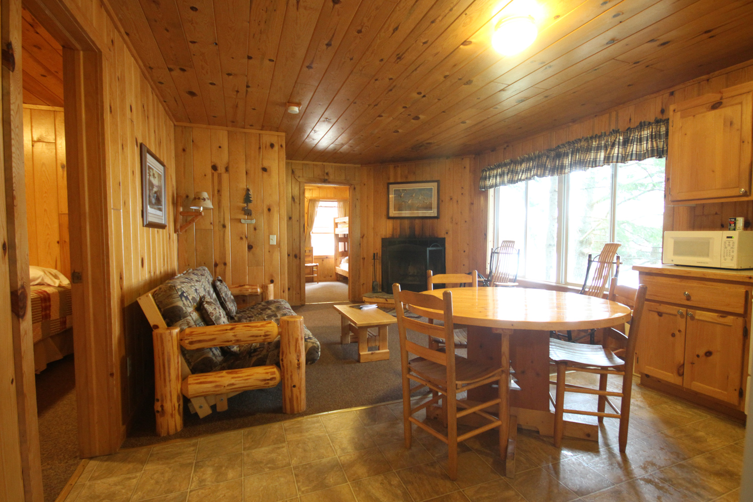 Walk in to a spacious living / dining space