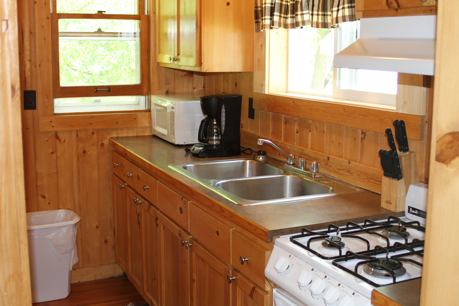 Galley Style Kitchen with lake breezes