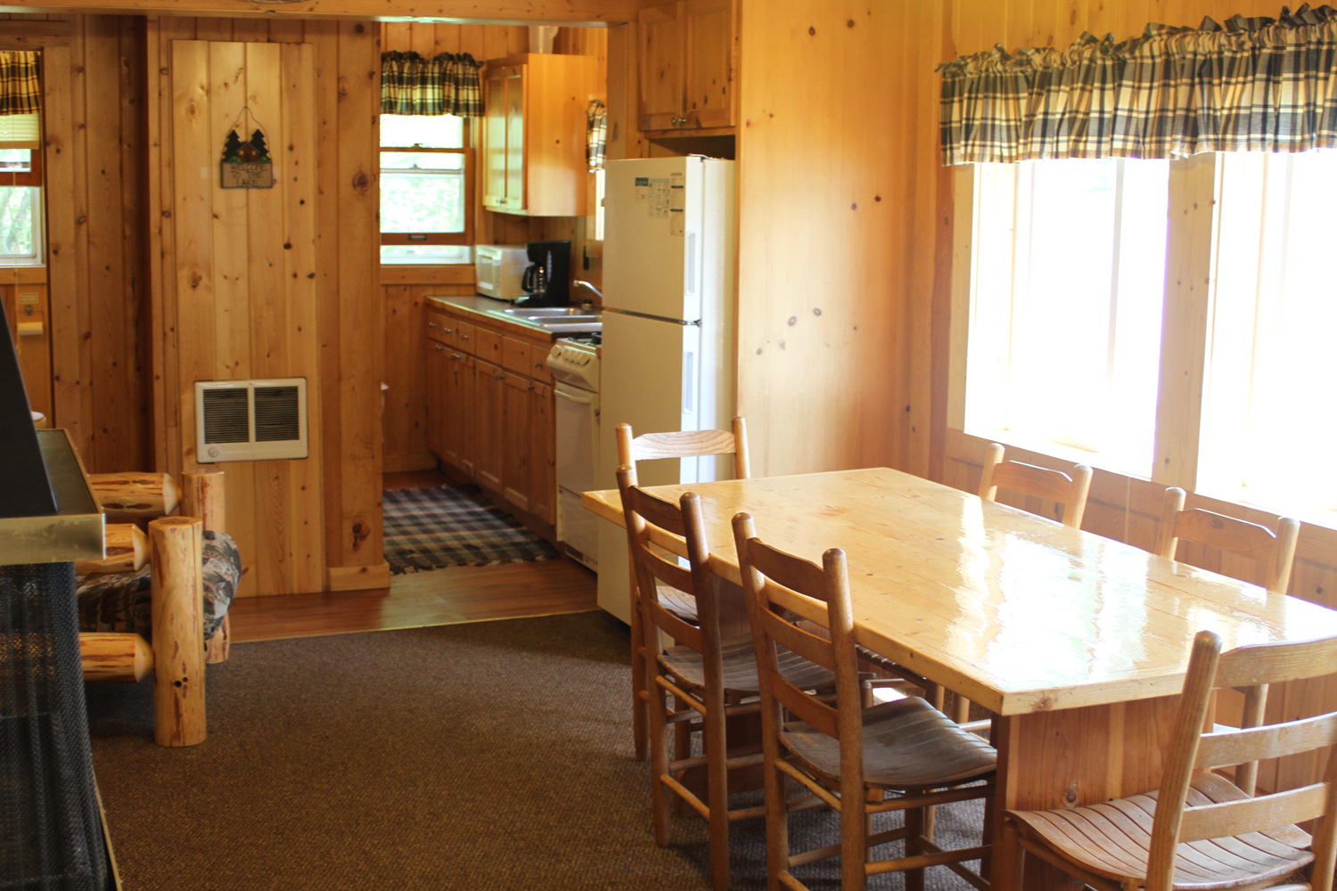 Open main room with great views of the lake