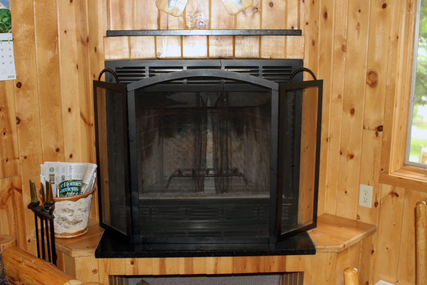 Fireplace for those chilly spring & fall evenings