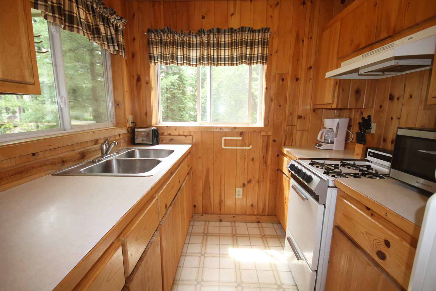 Kitchen with a great view of the lake
