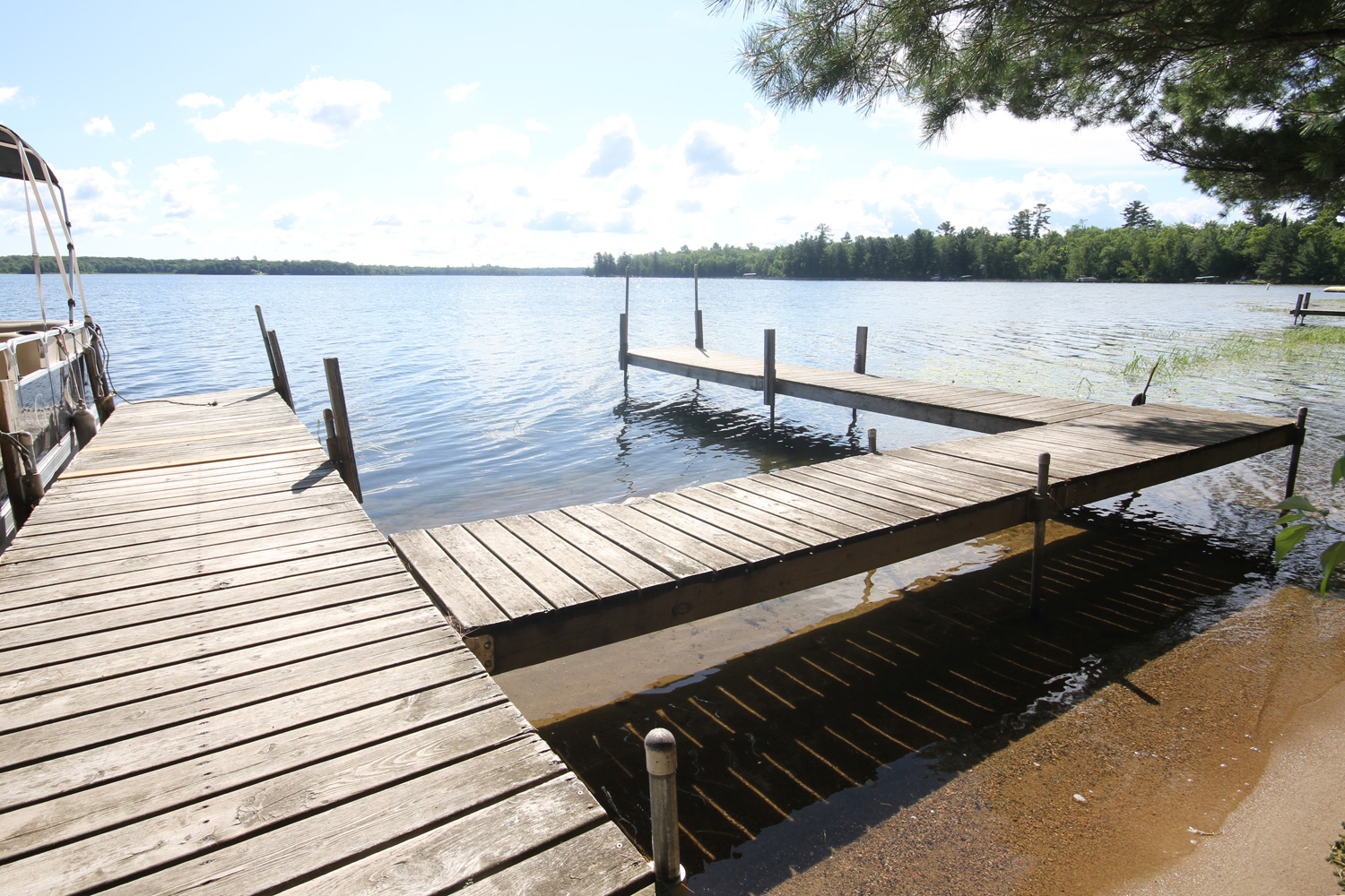 Private dock that accommodates up to 4 boats