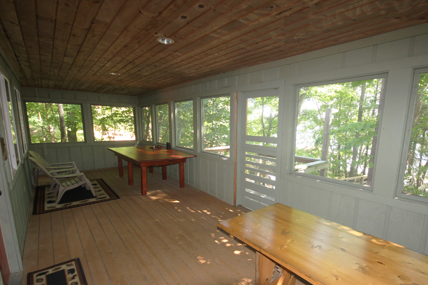 Wrap around deck provides a variety of views