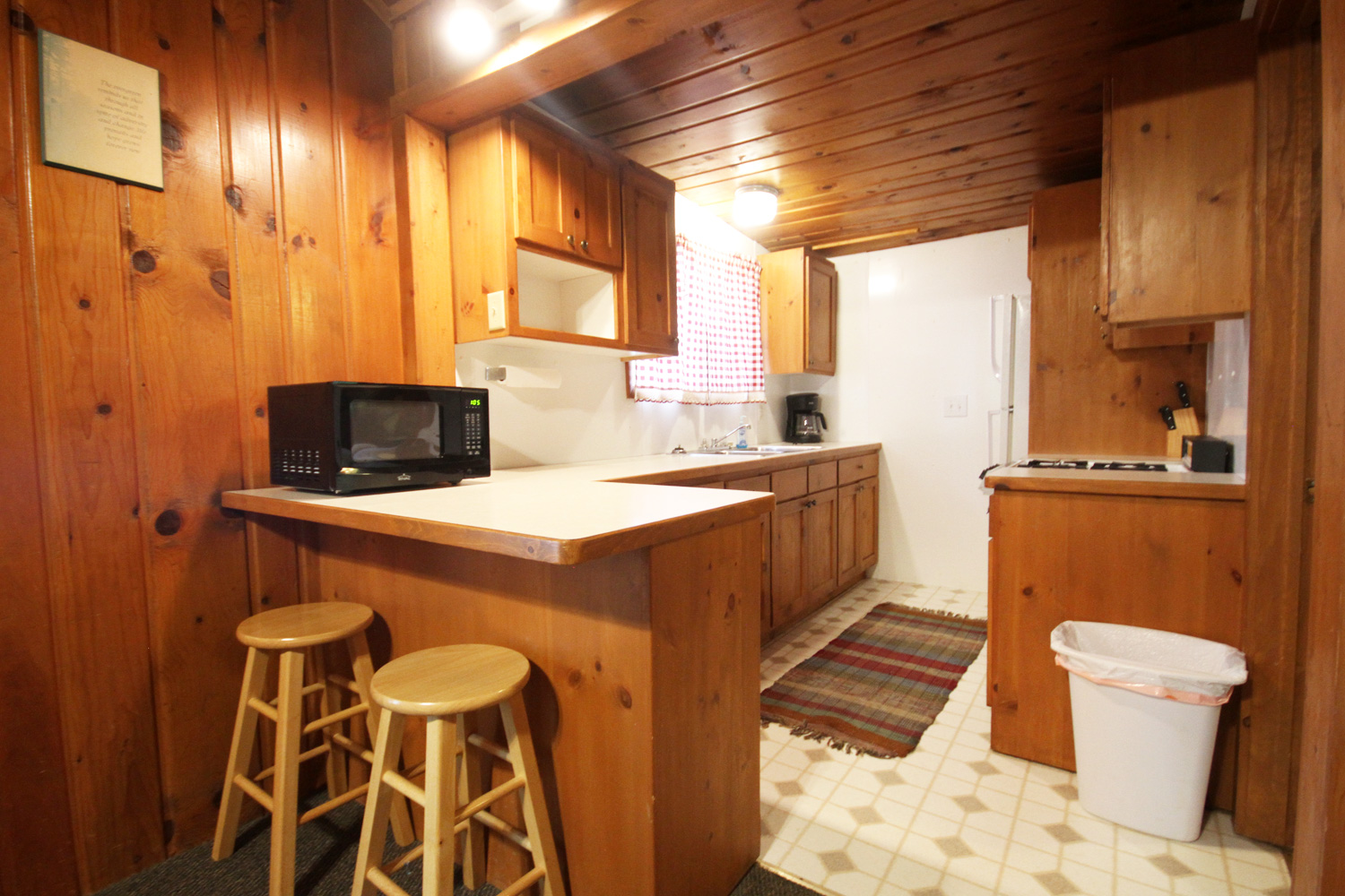 Galley Style Kitchen with 2-Seat Breakfast Nook