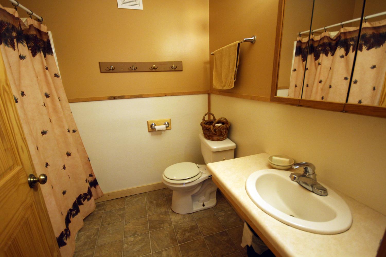 Main level bathroom with tub / shower