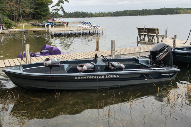 Your Boat is already at the dock when you rent from Broadwater Lodge