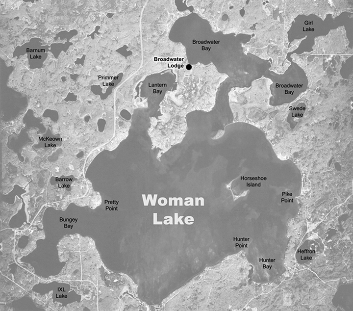 Lake Map - Woman Lake